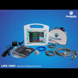 monitor multiparametros,parametros do coracão, batimento cardiaco,  monitor multipametrico, life1000, deltalife, deltalifehospitalar