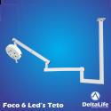 Foco Cirúrgico de 6 LEDs para Teto Vet