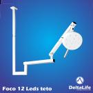 Foco cirúrgico vet bicolor de 12 LEDS para teto
