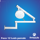 Foco cirúrgico vet bicolor 12 LEDS de parede