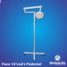 Foco Cirúrgico Bicolor 12 LEDs - Pedestal Vet